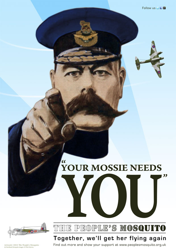 Your Mossie Needs You poster
