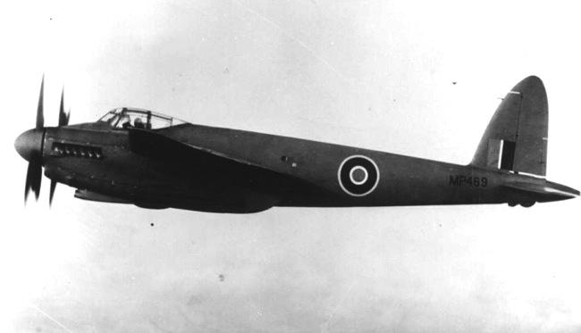 MP469 in flight