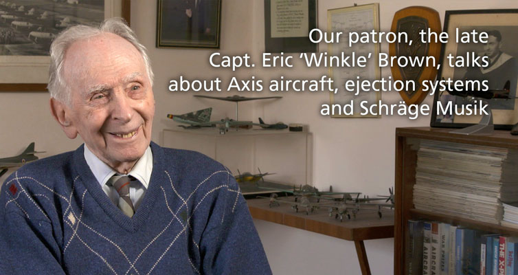 Video: Capt. Eric 'Winkle' Brown – Axis aircraft, ejection systems and Schräge Musik
