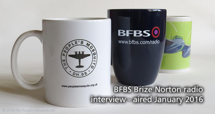 BFBS Brize Norton interview – aired January 2016