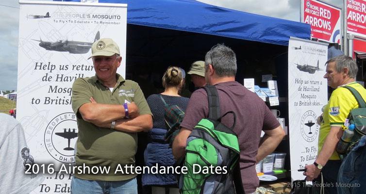 2016 Airshow Attendance Dates