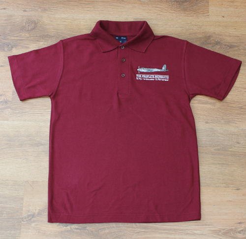 Embroidered Red Tpm Logo Polo Shirt The Peoples Mosquito Store