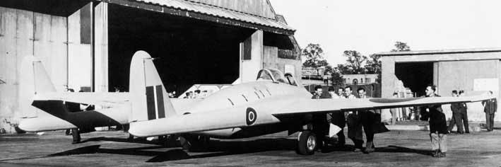 LZ548 - DH.100 Vampire prototype