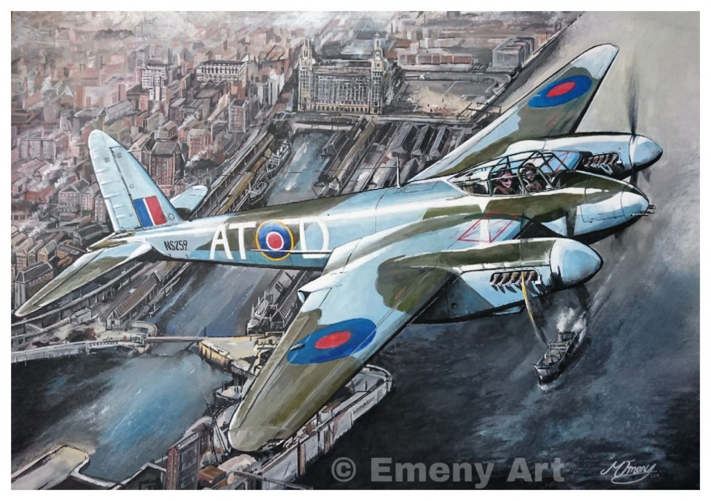 De Havilland Mosquito painting